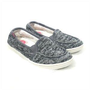 Girls Roxy Slip On Gray Sneakers Size 1